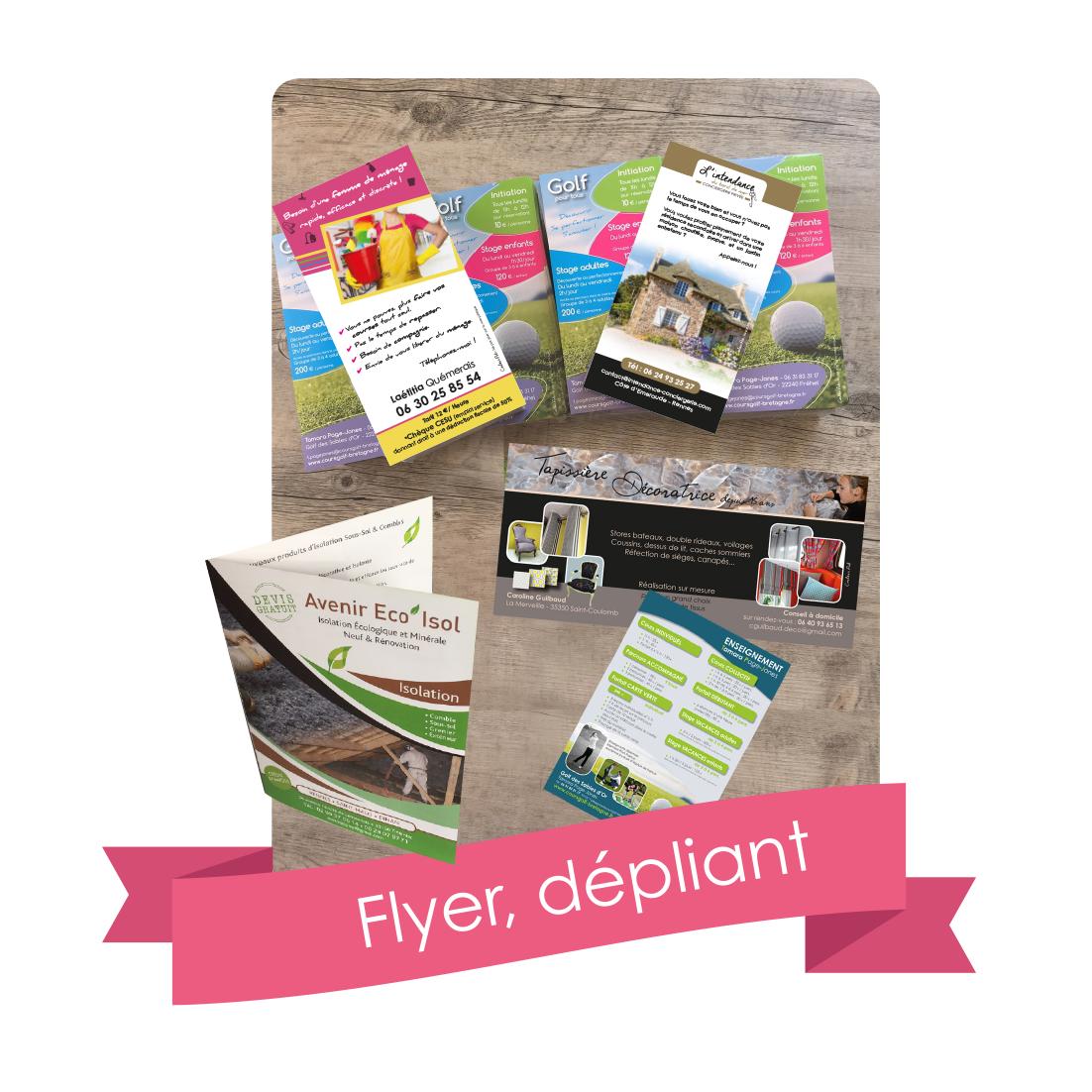 flyers,dépliants,tracts,publicité